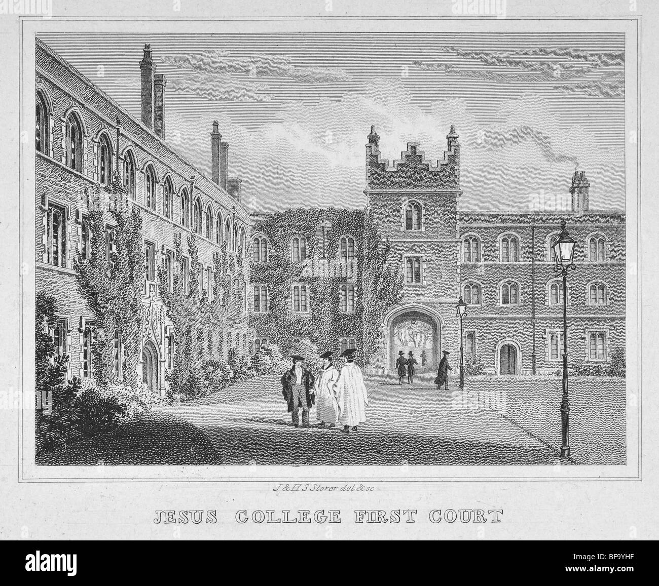 Jesus College, Cambridge – First Court - Stock Image