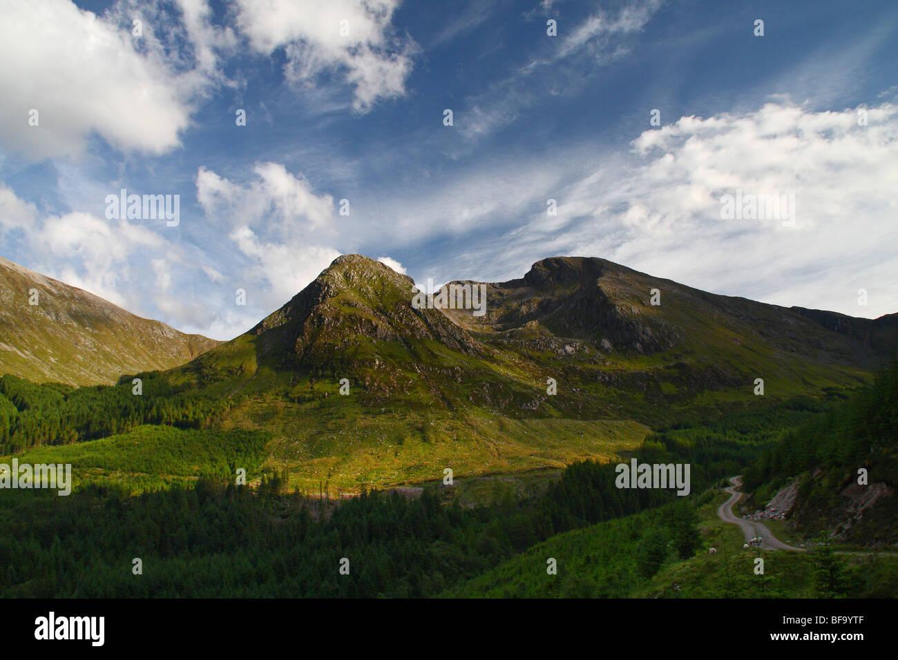 Sgorr Dhonuill summit, near Ballachulish, Highlands, Scotland, UK - Stock Image