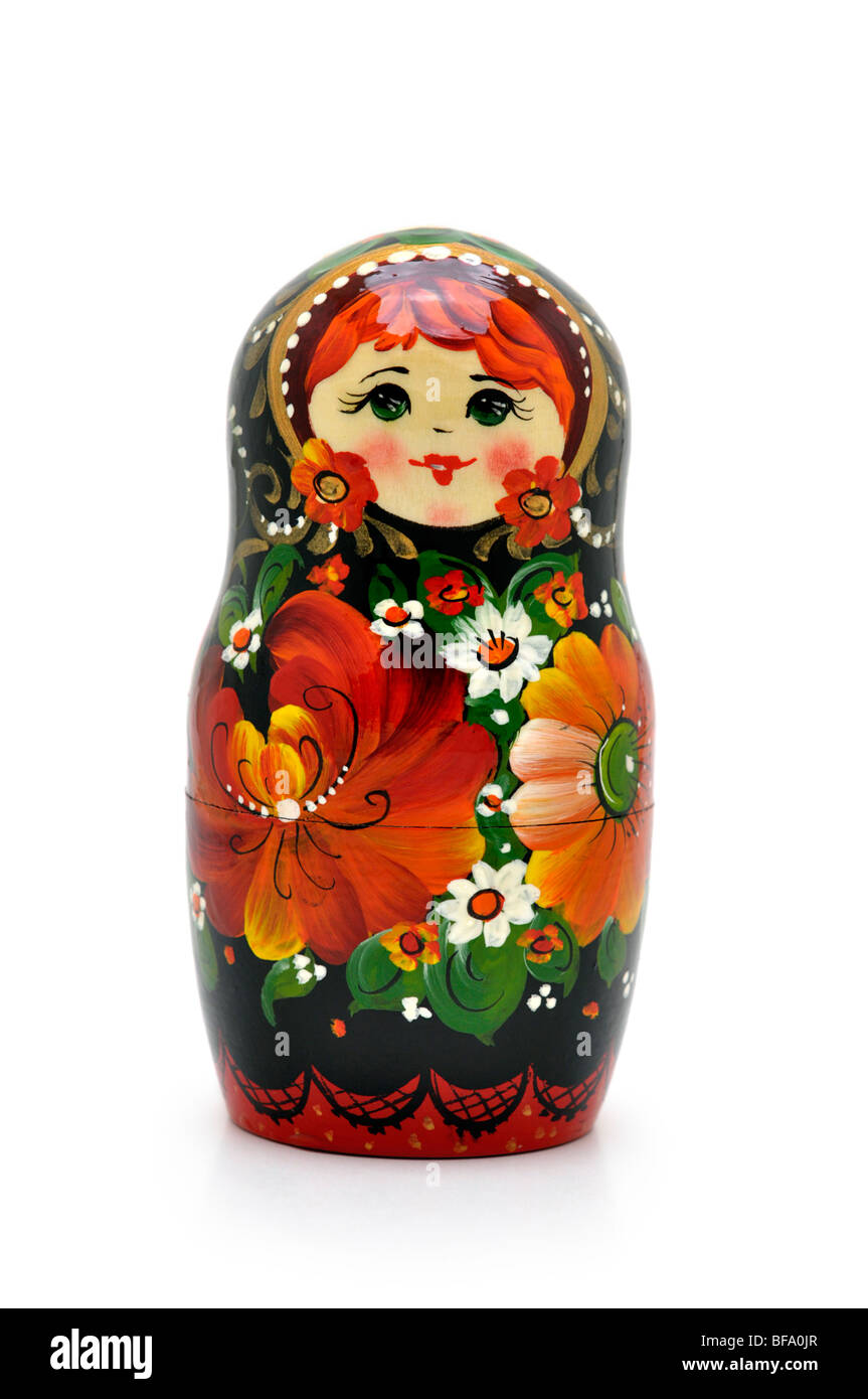 Russian Nesting Doll -  Matryoshka Stock Photo