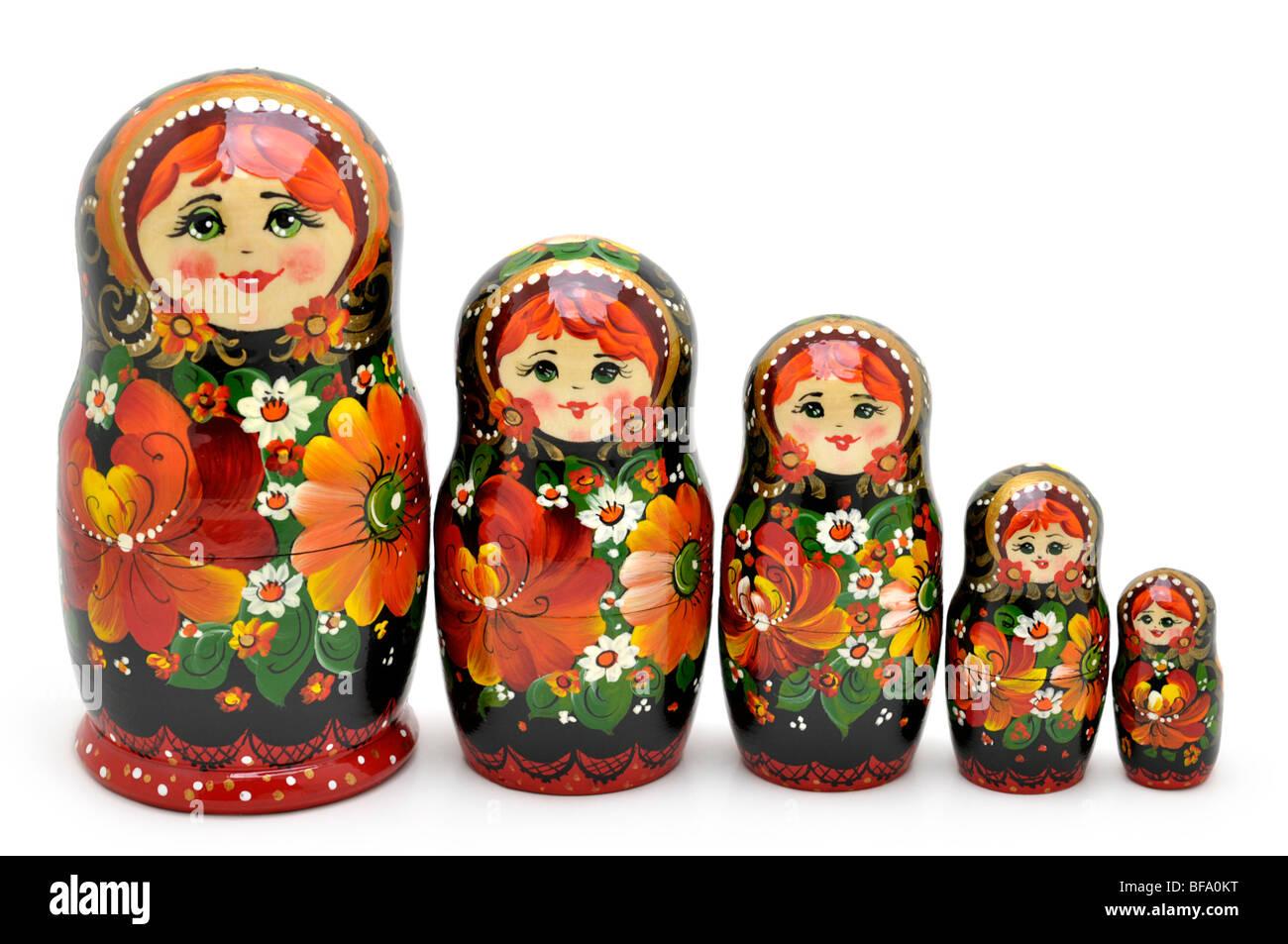 Russian Nesting Dolls -  Matryoshki - Stock Image