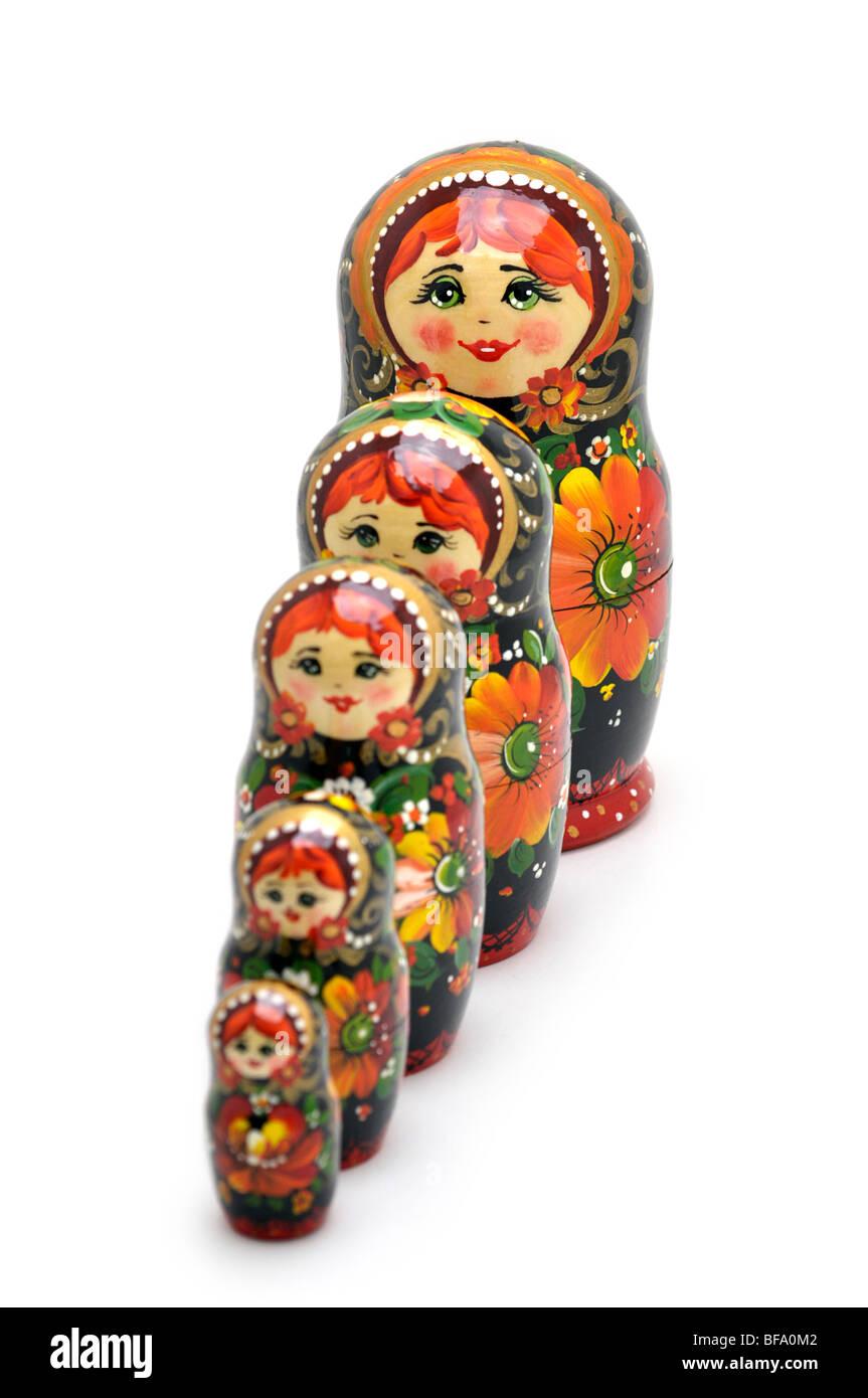 Russian Nesting Dolls -  Matryoshki Stock Photo