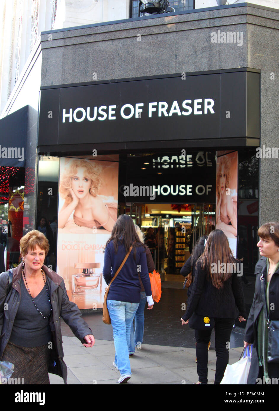 House Of Fraser department store, Oxford Street, London, England, U.K. - Stock Image