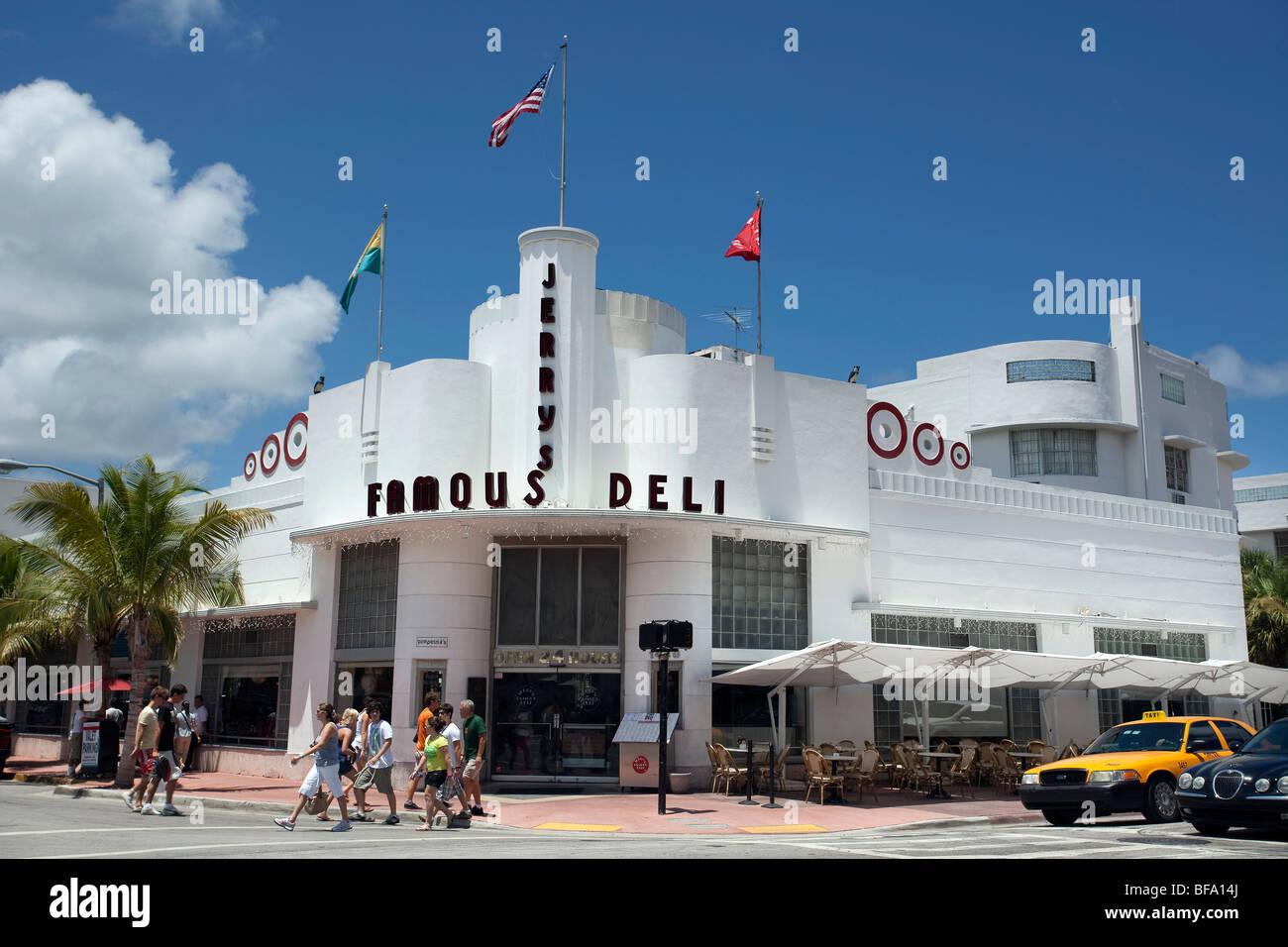jerry s famous deli art deco building collins avenue south beach