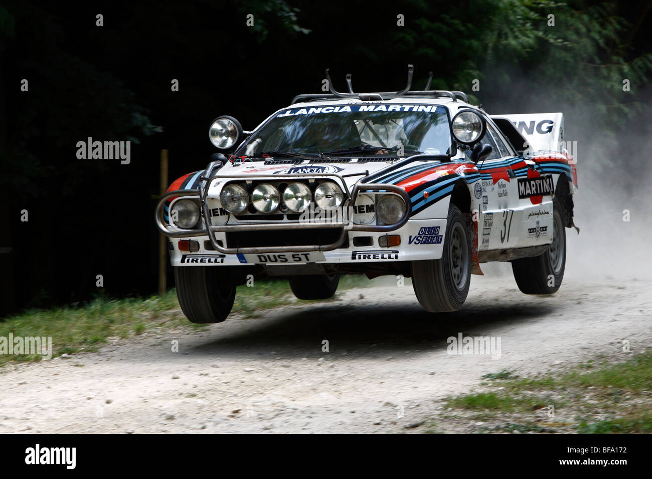 Lancia Rallye 037  Driven By David Kedward on the rally stage at Goodwood Festival Of Speed 2009 - Stock Image