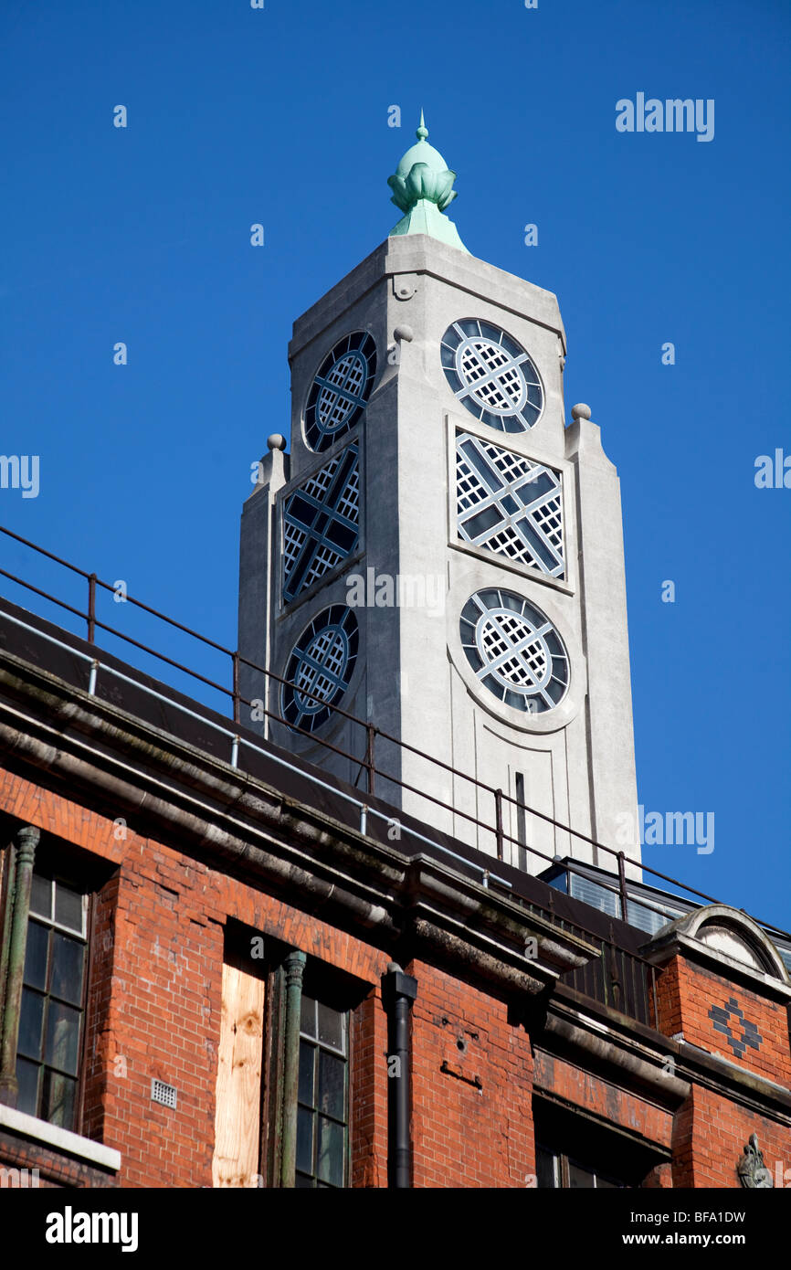 oxo tower an iconic art deco building on london s south bank stock