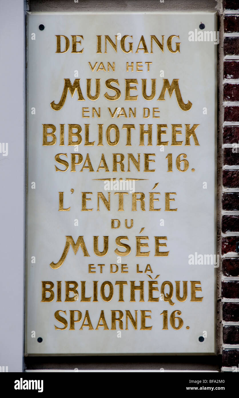 Haarlem Netherlands museum library bibliotheque - Stock Image