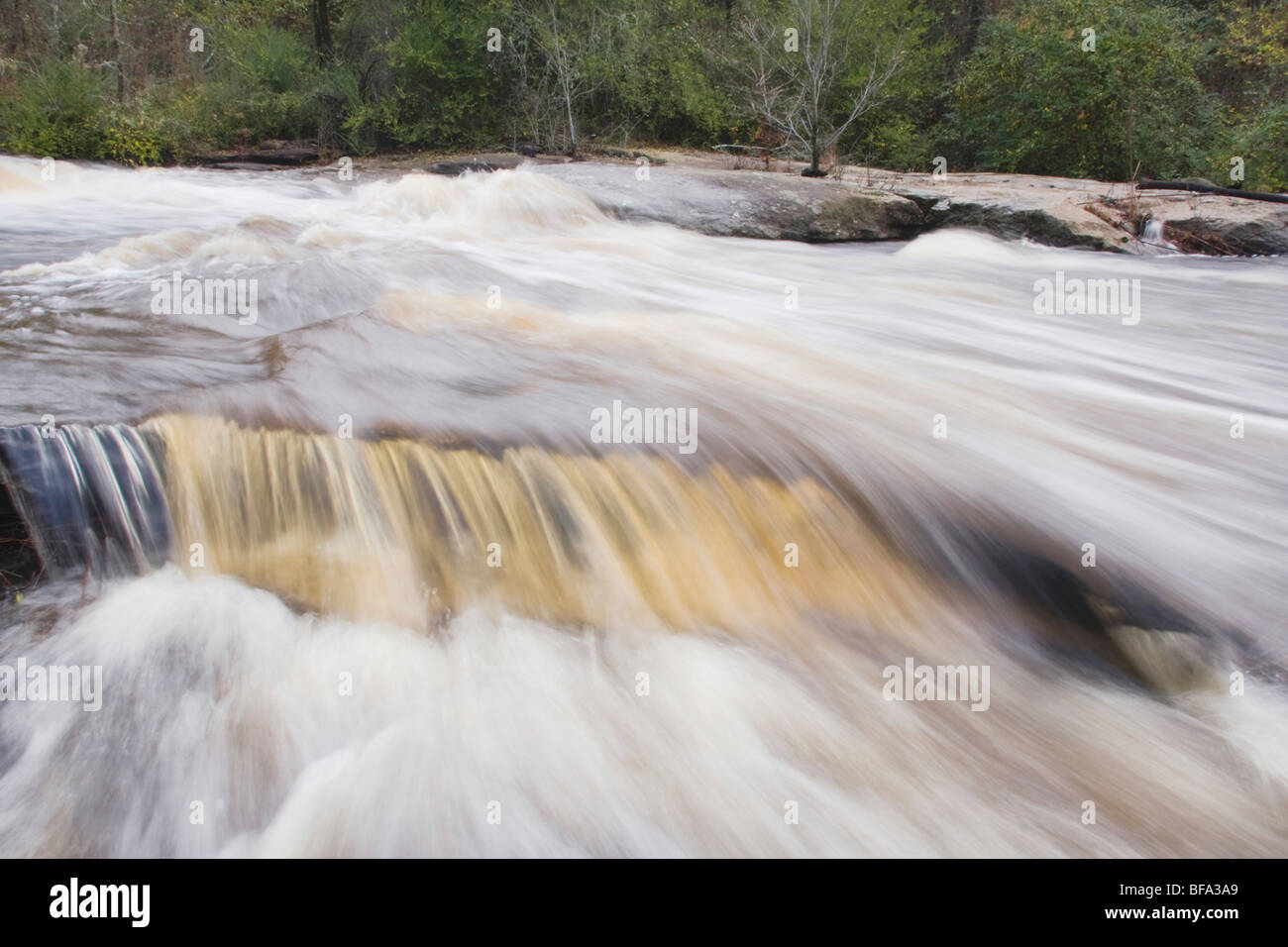Little River flowing through Rolesville Millpond Natural Area, Rolesville, North Carolina, USA - Stock Image