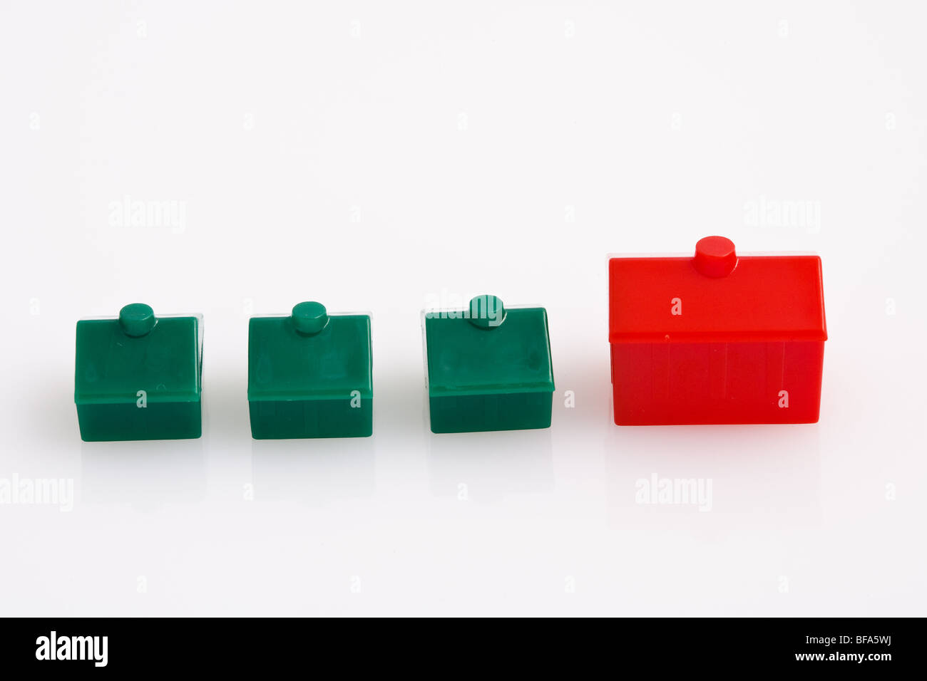 Monopoly Game Pieces - Stock Image