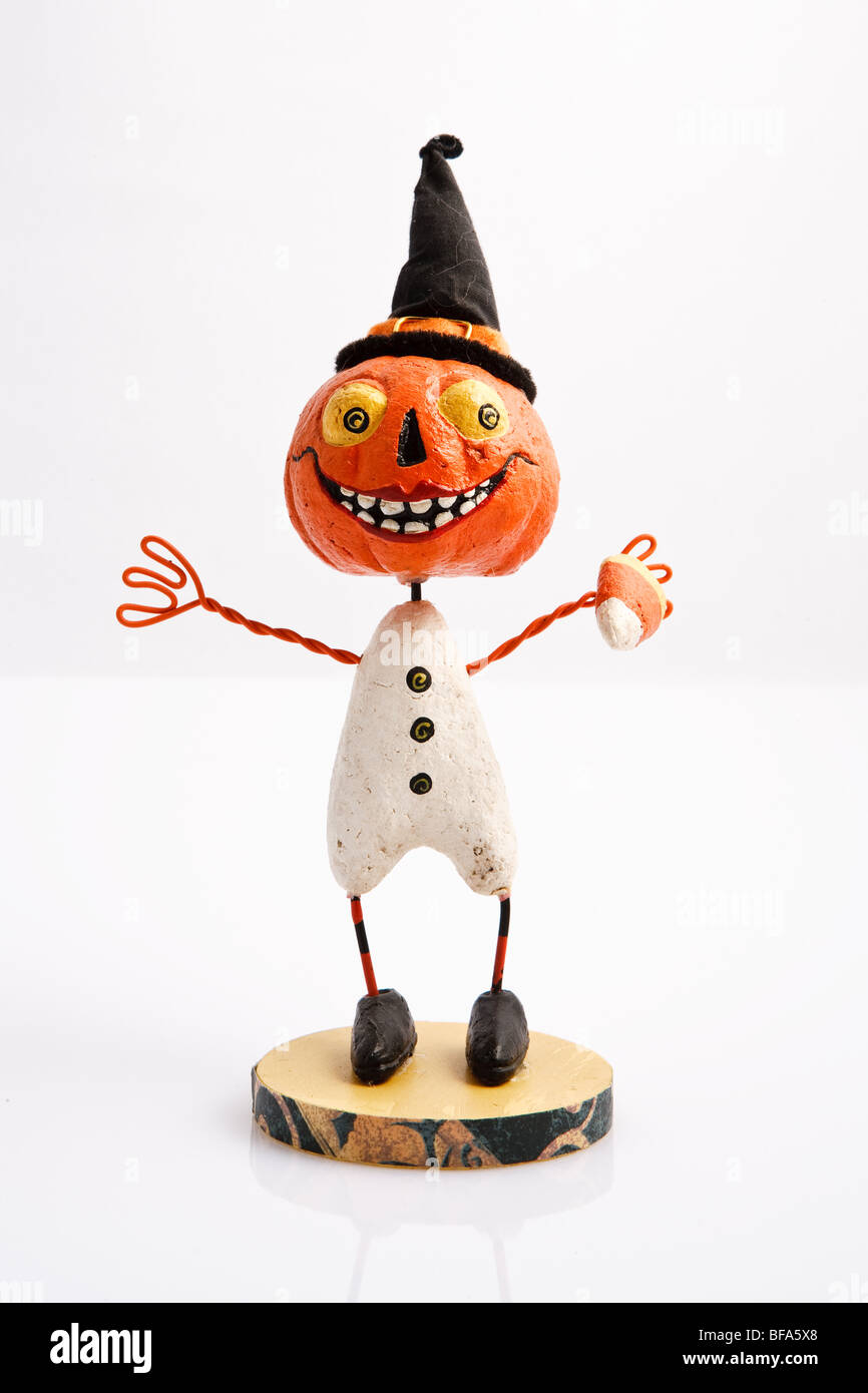 Halloween figurines used for decoration - Stock Image