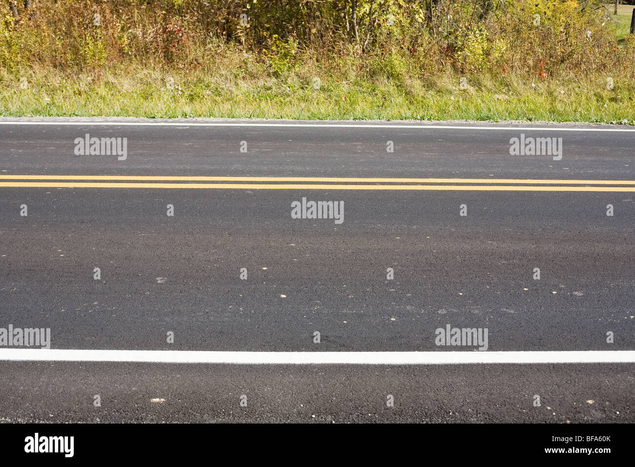 A two lane road - Stock Image