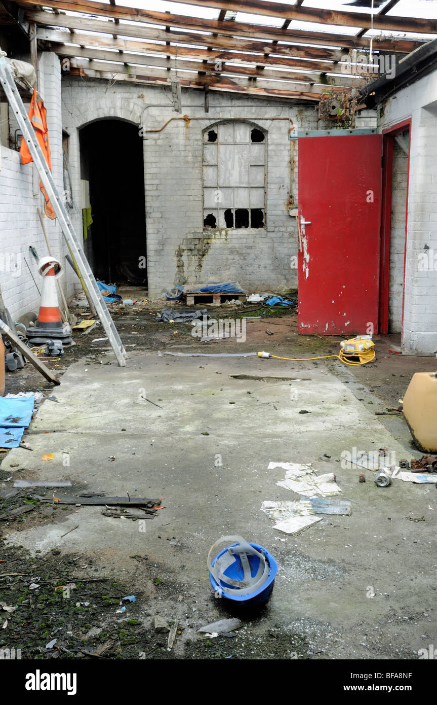 Redundant Workshop - Stock Image