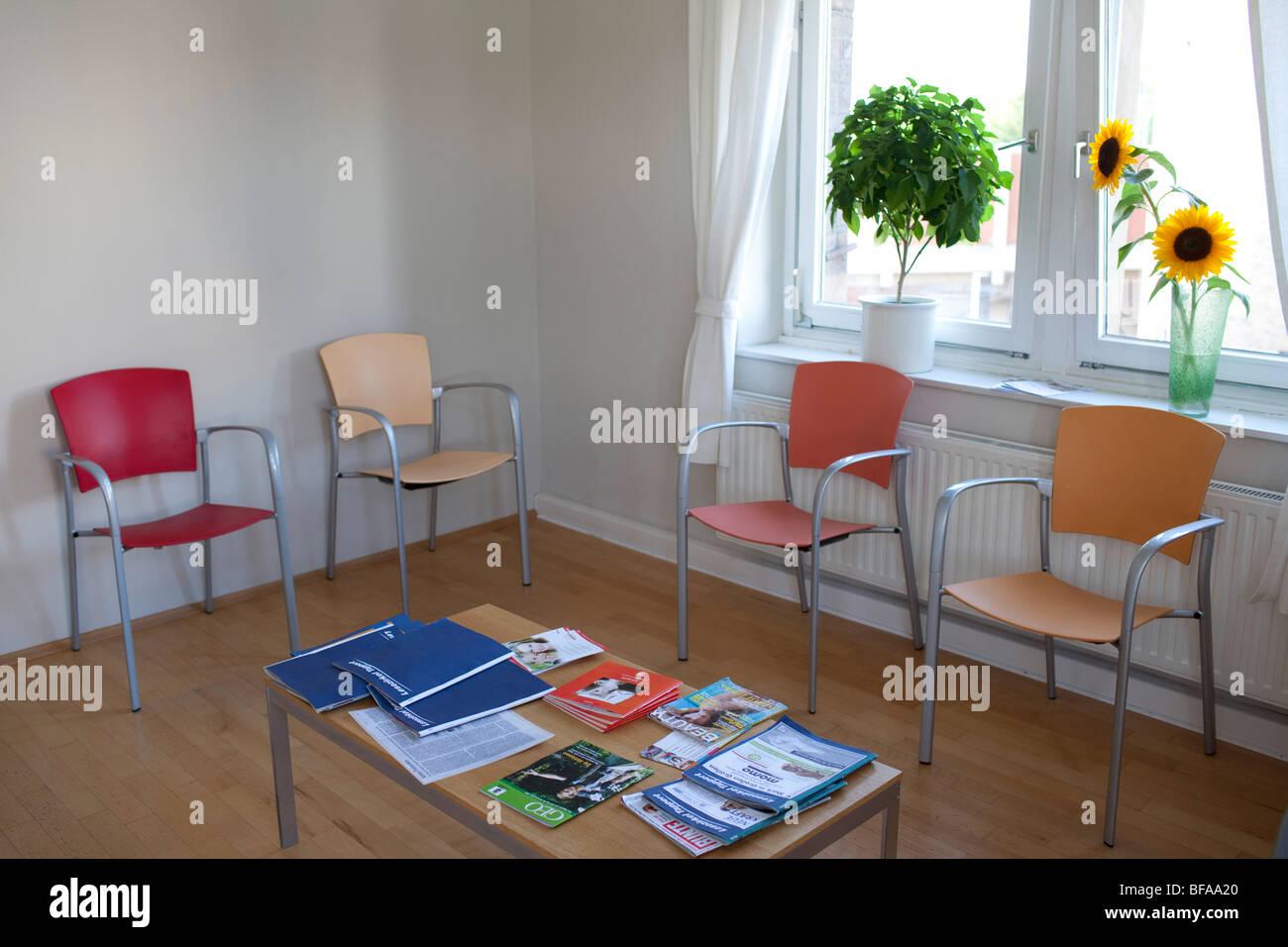 Empty waiting room Stock Photo