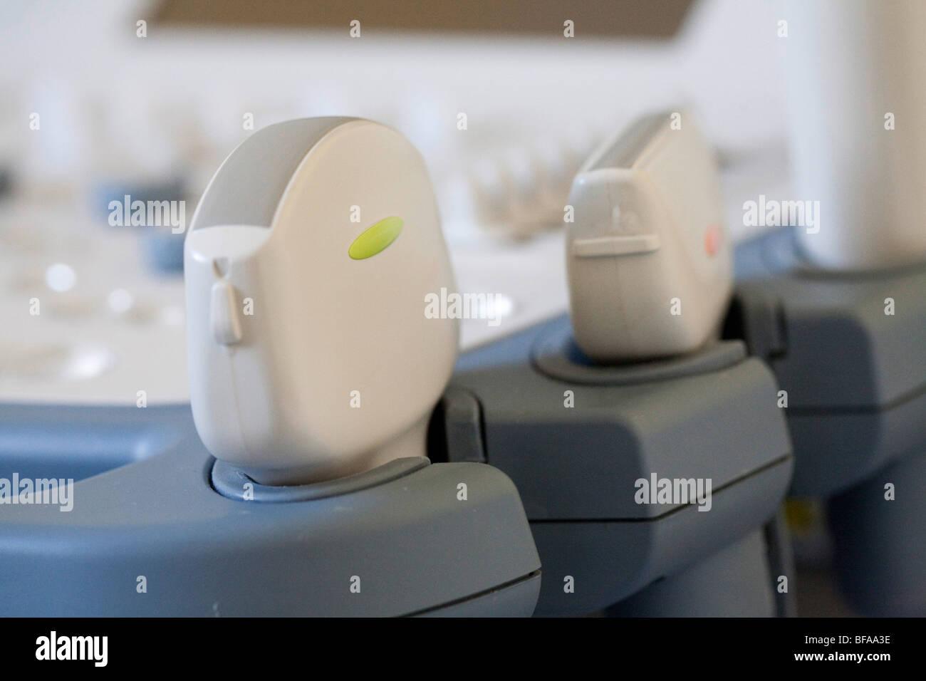 Ultrasound transducers. - Stock Image