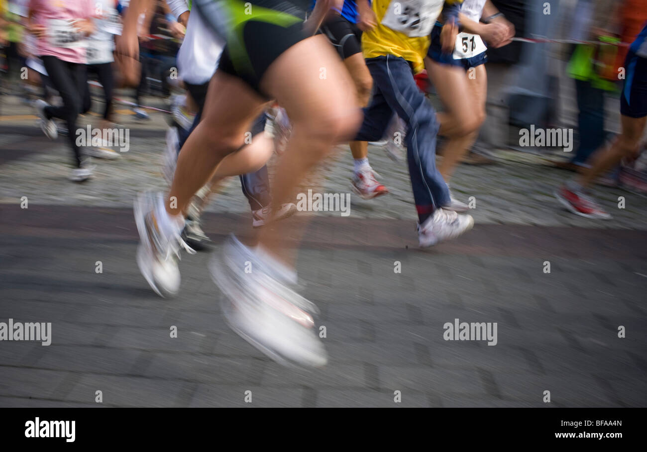 City run through Radevormwald - Stock Image