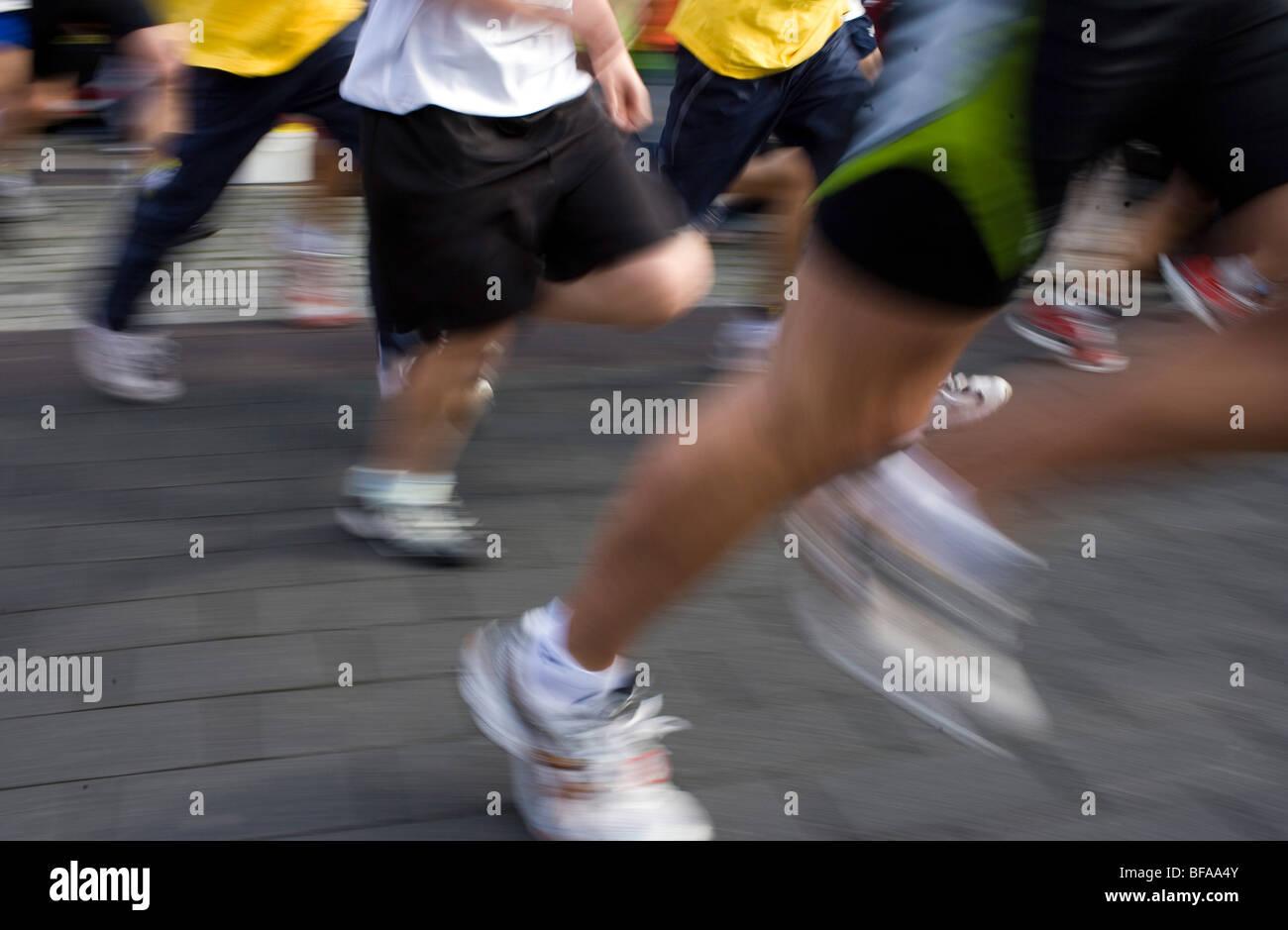 City run through Radevormwald - Stock Image