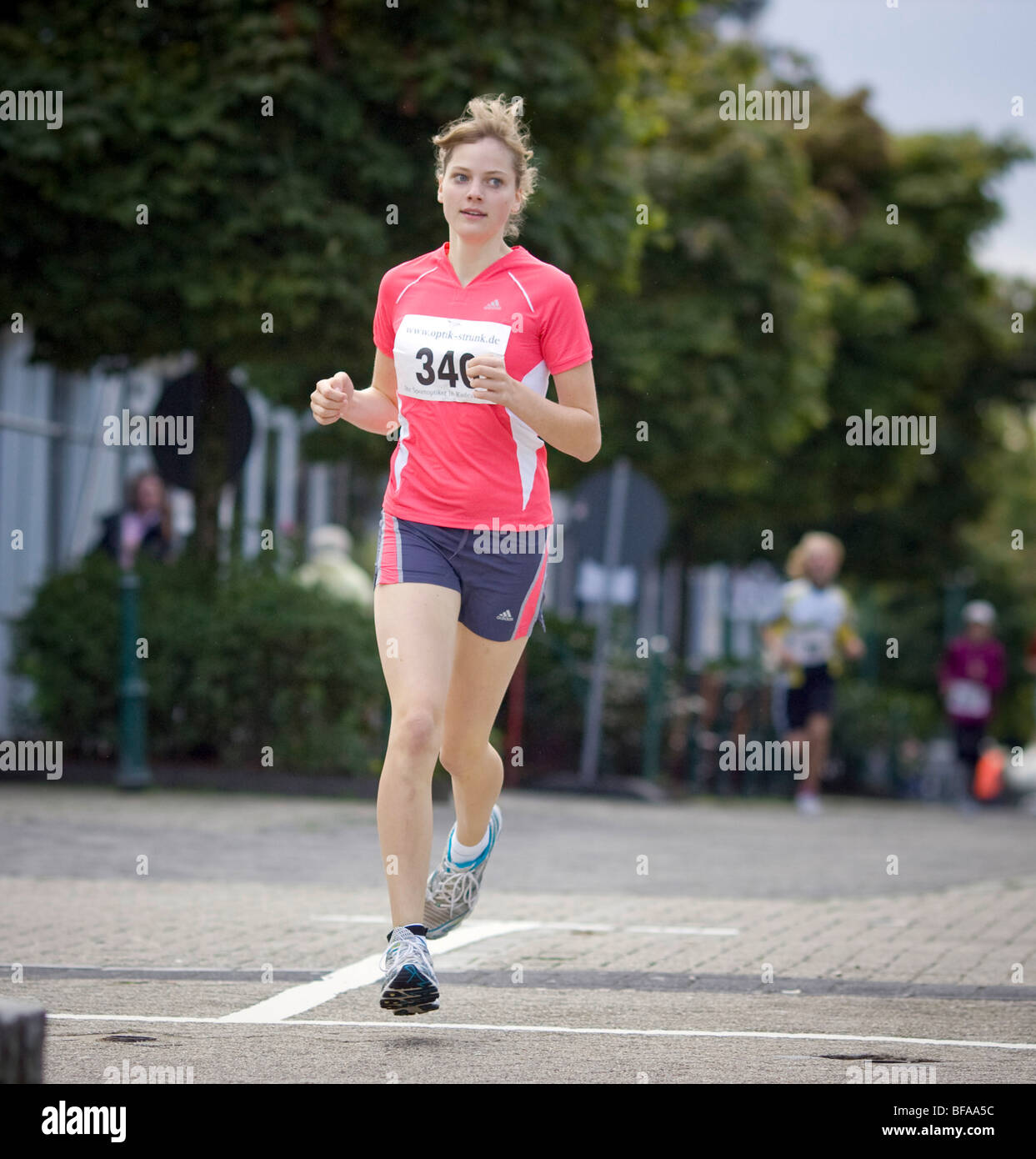 City run through Radevormwald . - Stock Image