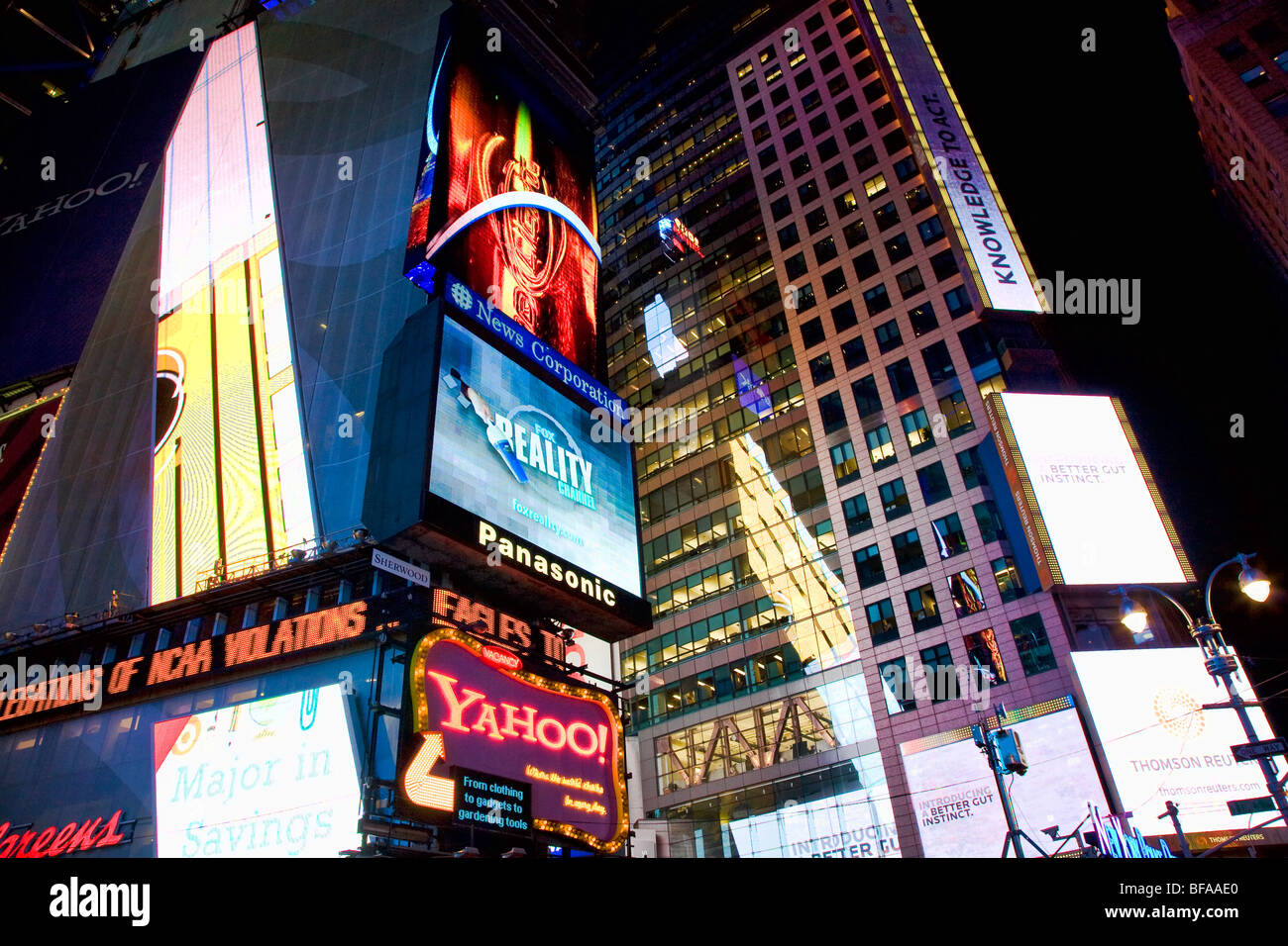 Night on Times Square, New York - Stock Image