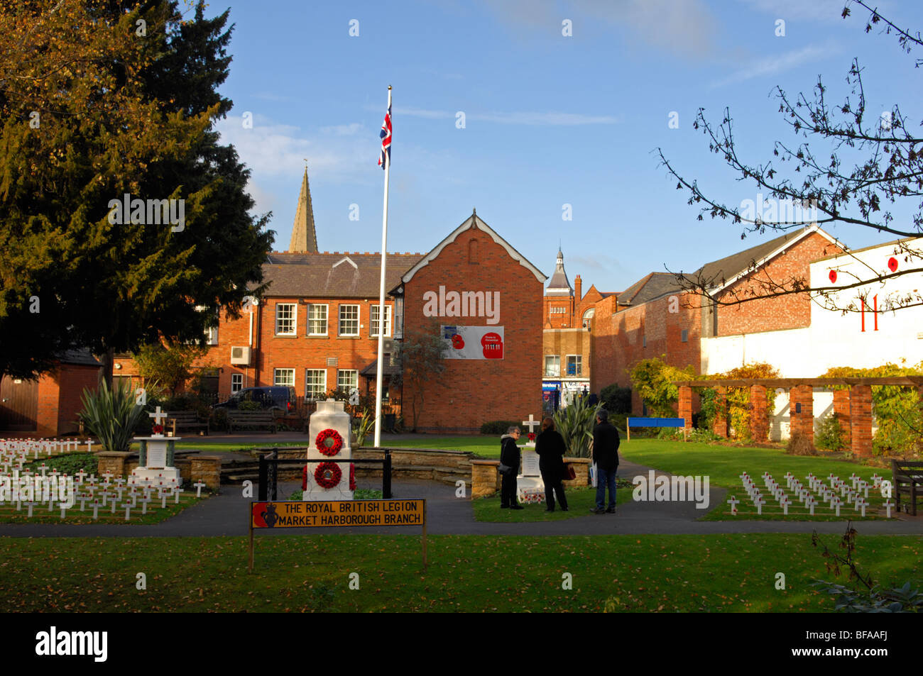 The garden of remembrance in Market Harborough - Stock Image