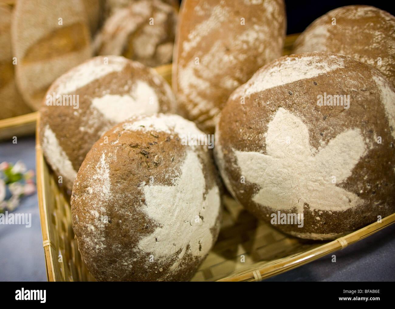 Brown bread , Berlin , Germany - Stock Image