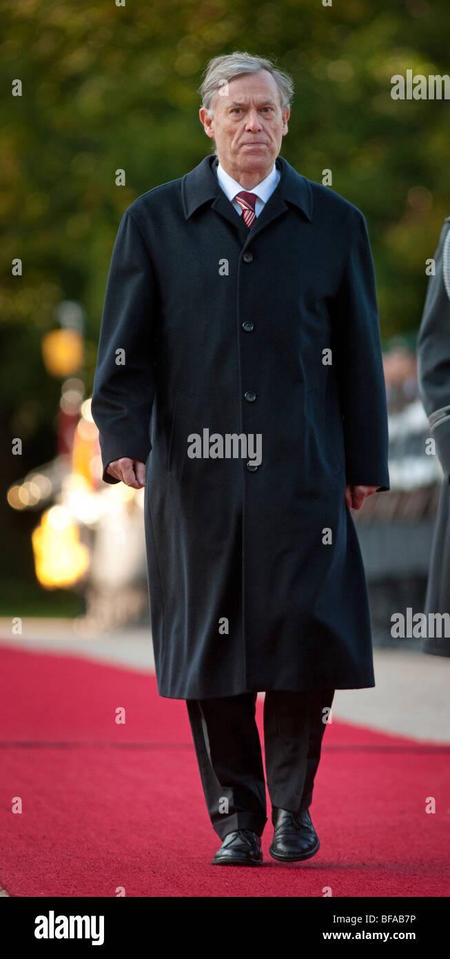 Federal President Horst KOEHLER, Castle Bellevue , Germany - Stock Image