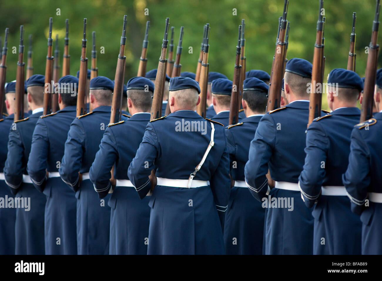 Conscript army of the German armed forces in the Castle Bellevue, Germany - Stock Image