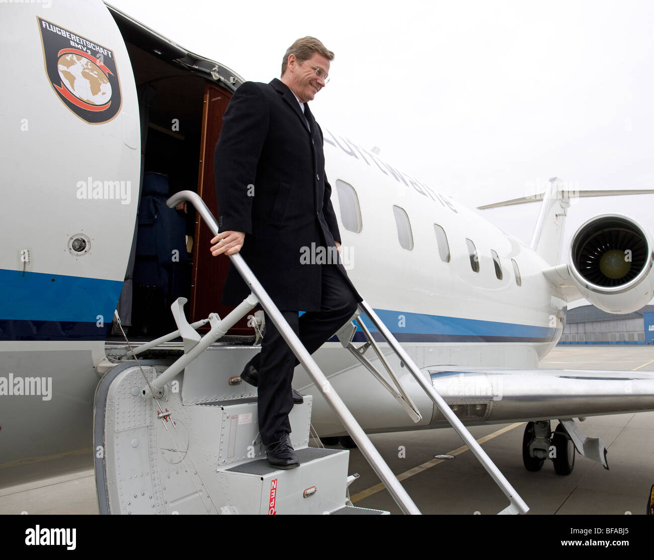 Guido WESTERWELLE, Federal Minister for Foreign Affairs, Deputy Federal Chancellor of Germany is visiting Poland, - Stock Image
