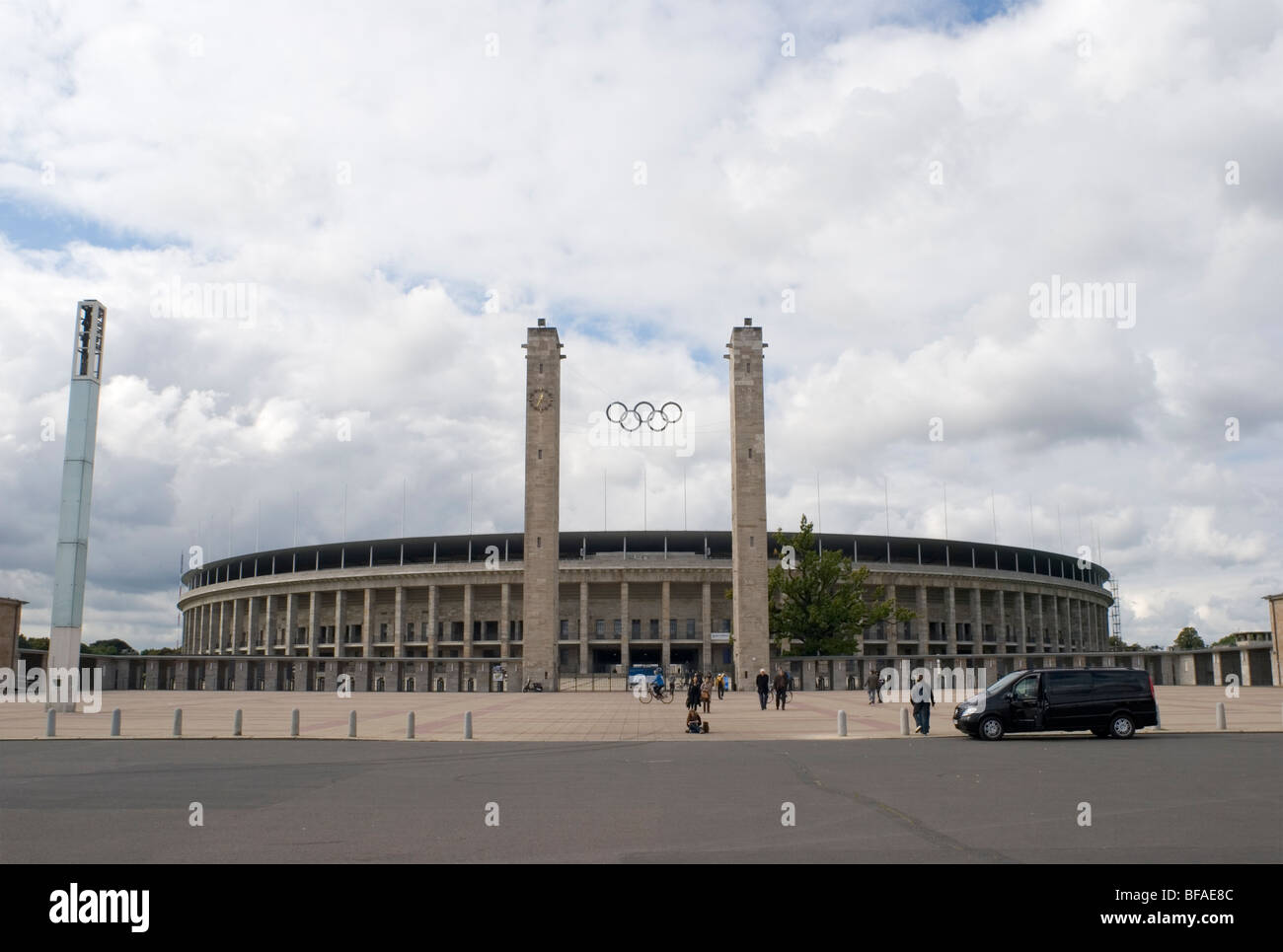 exteriors of Olympiastadion - Berlin - Germany - Stock Image
