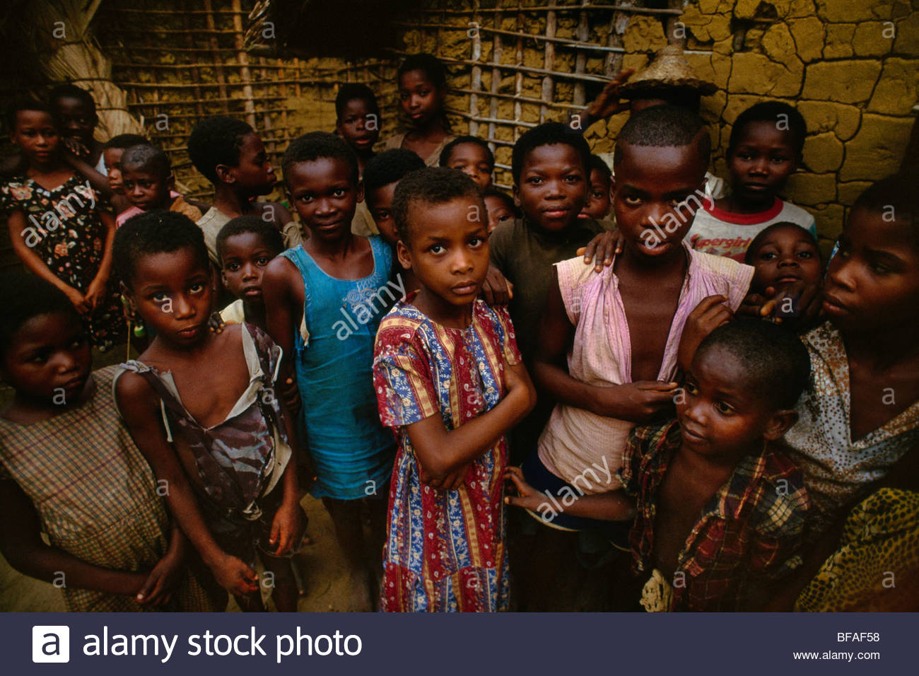 Children, Wamba, Democratic Republic of Congo - Stock Image