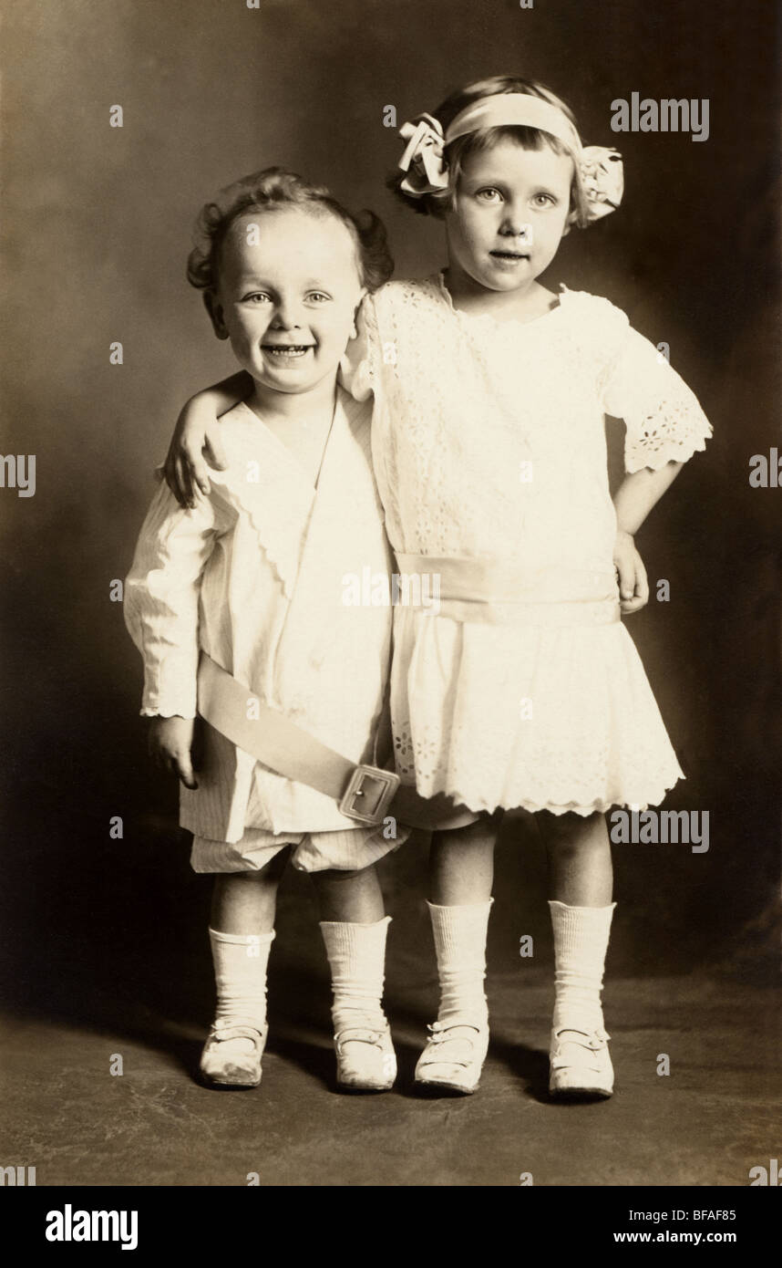 Two Sisters Attached at the Hip - Stock Image