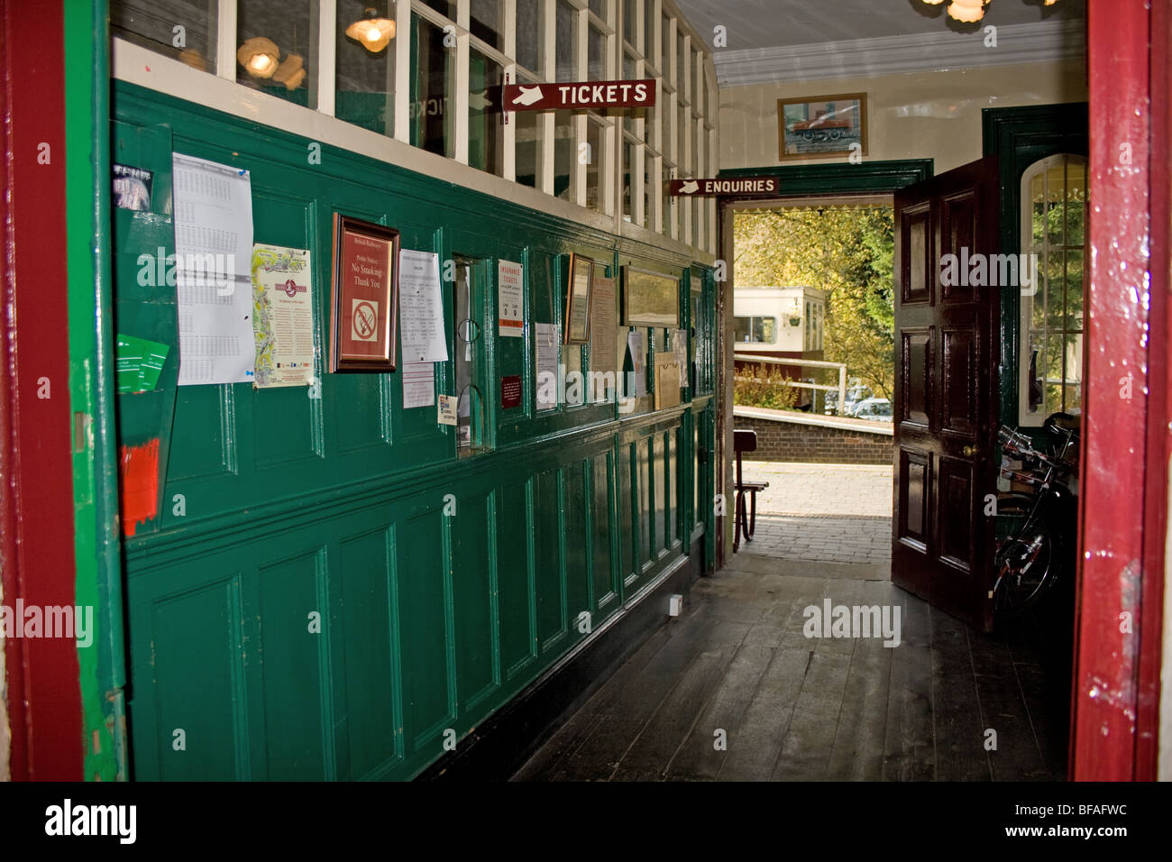 Booking Office at Cheddleton Railway Station - Stock Image