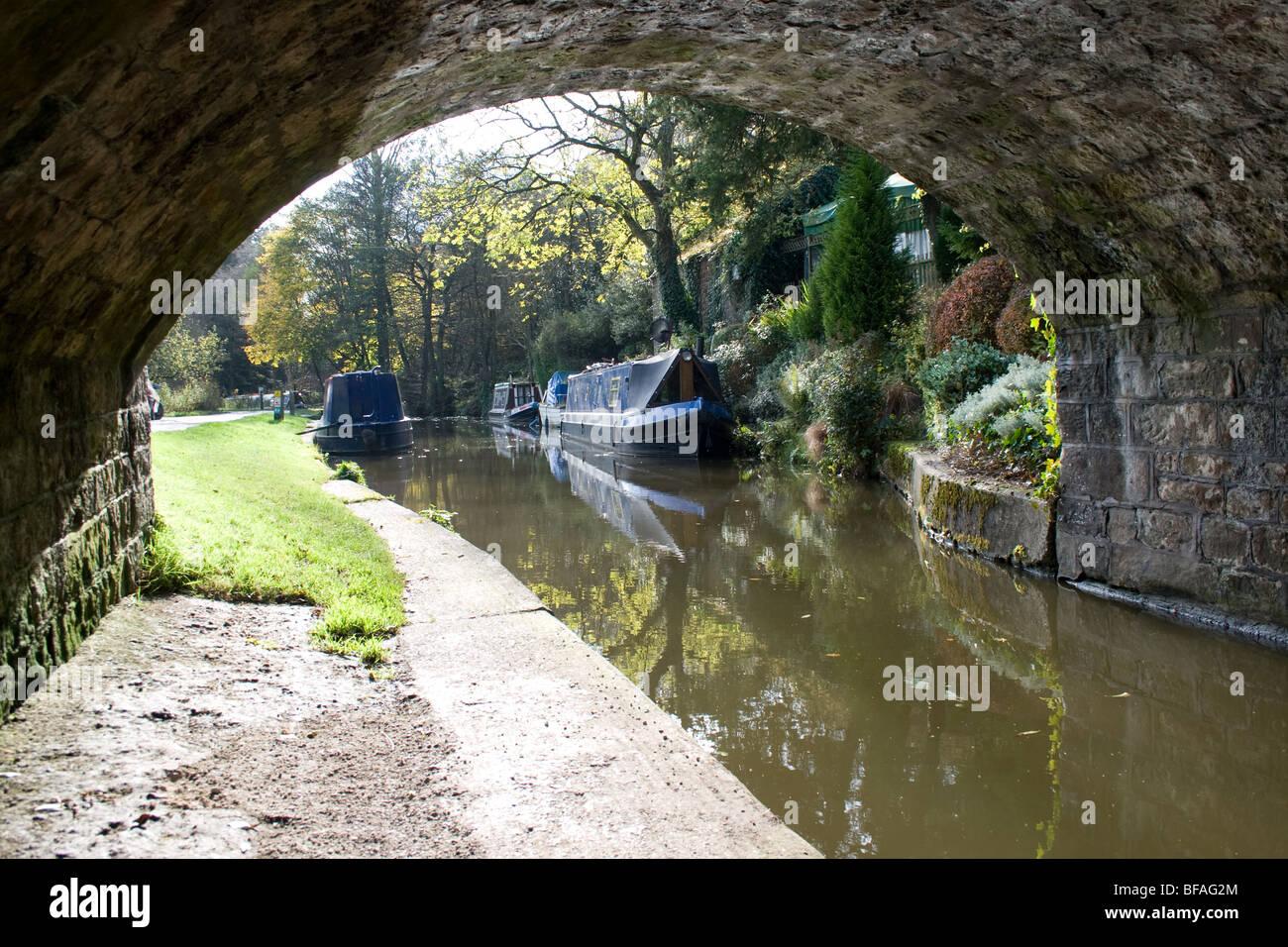 Cauldon canal, Cheddleton, Staffordshire - Stock Image