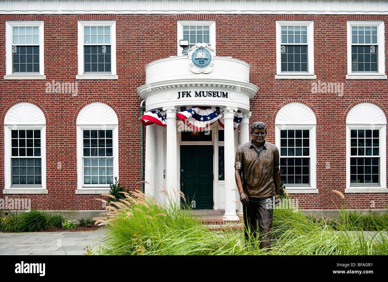 Exterior of the JFK Museum, Hyannis, Cape Cod, Massachusetts, USA - Stock Image
