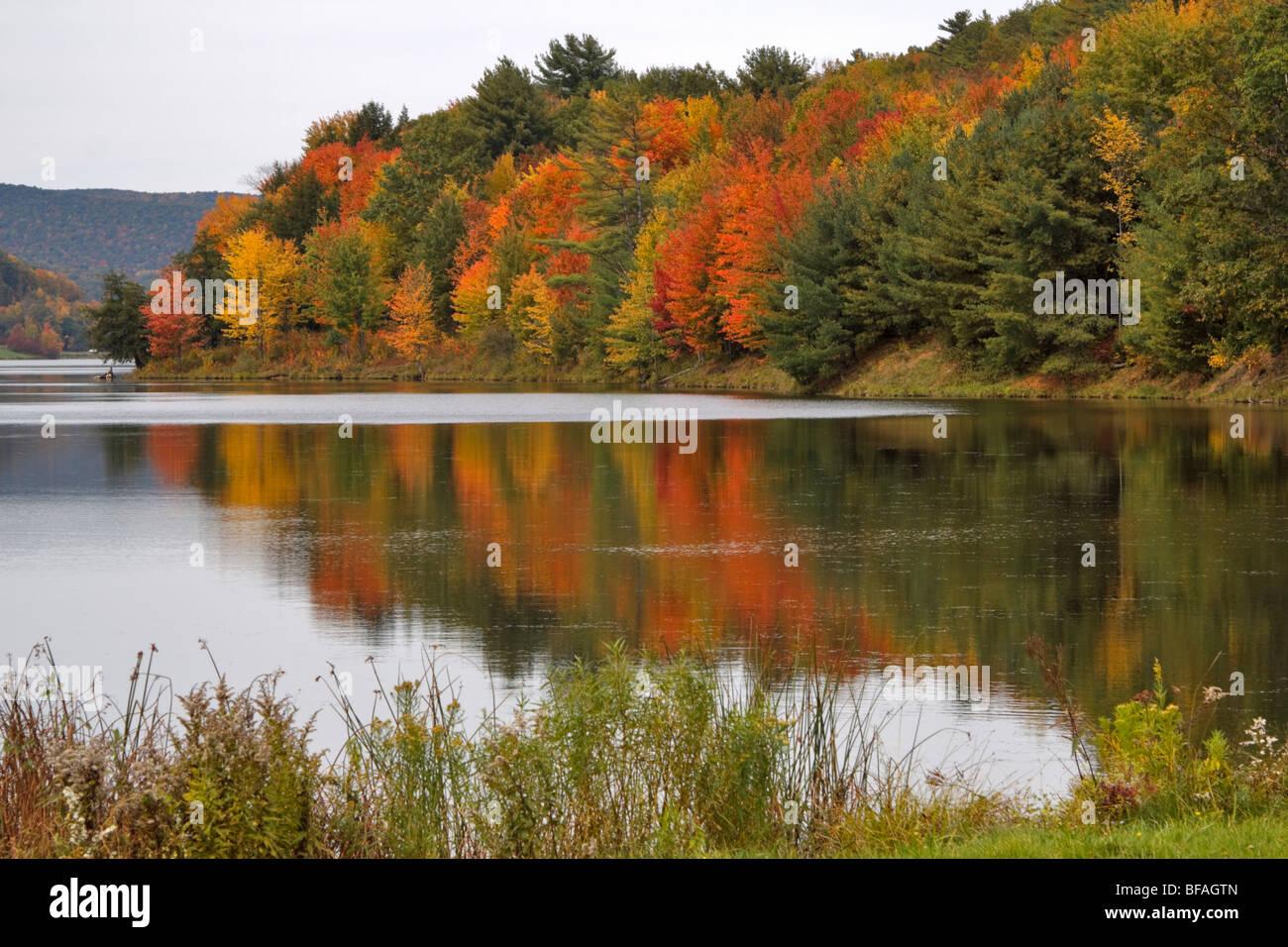 Quaker Lake, Allegany State Park, New York - Stock Image