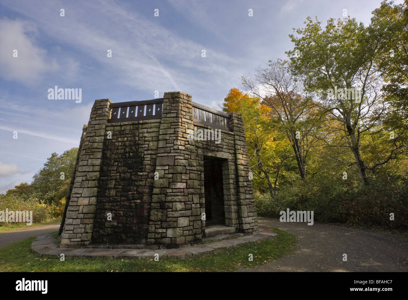 Stone Tower, Summit, Red House Area, Allegany State Park, New York - Stock Image