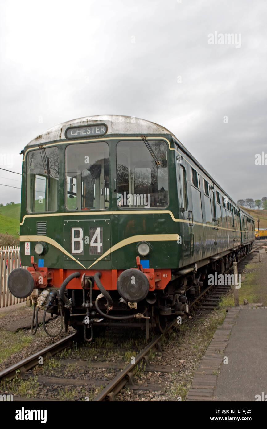 Diesel Multiple Unit, DMU, Cheddleton, Staffordshire - Stock Image