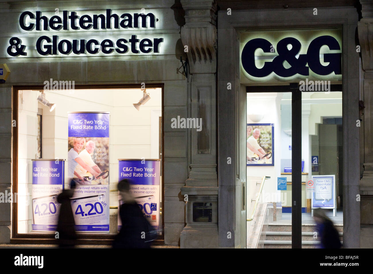 A branch of the Cheltenham & Gloucester Building Society, Gloucester, Gloucestershire UK - Stock Image