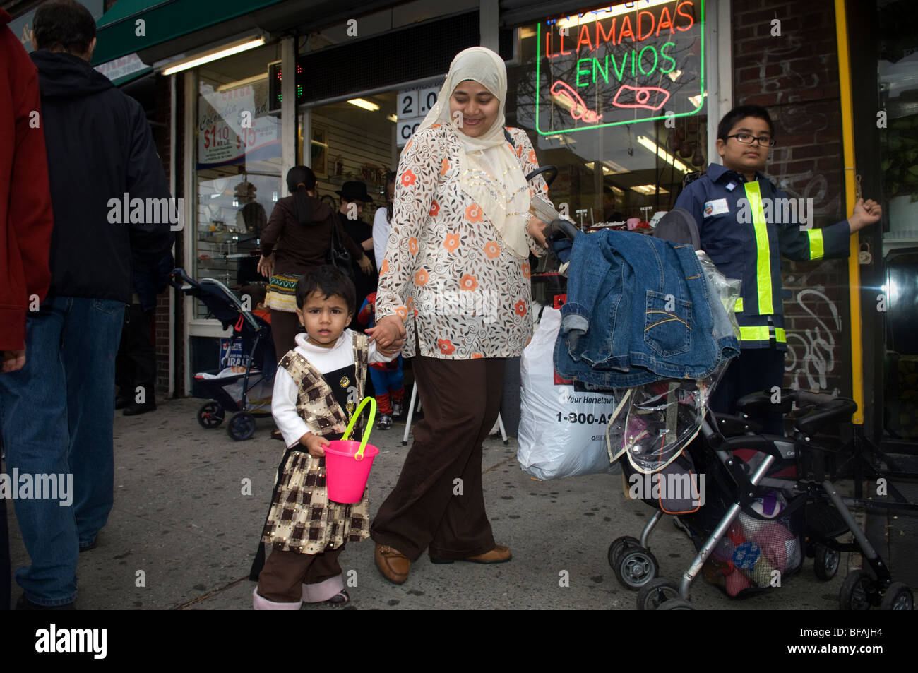 20th Annual Jackson Heights Halloween Parade in Queens, New York - Stock Image