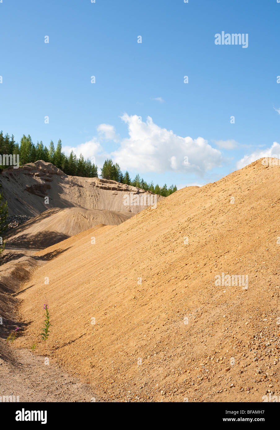 Sand pile , Finland - Stock Image