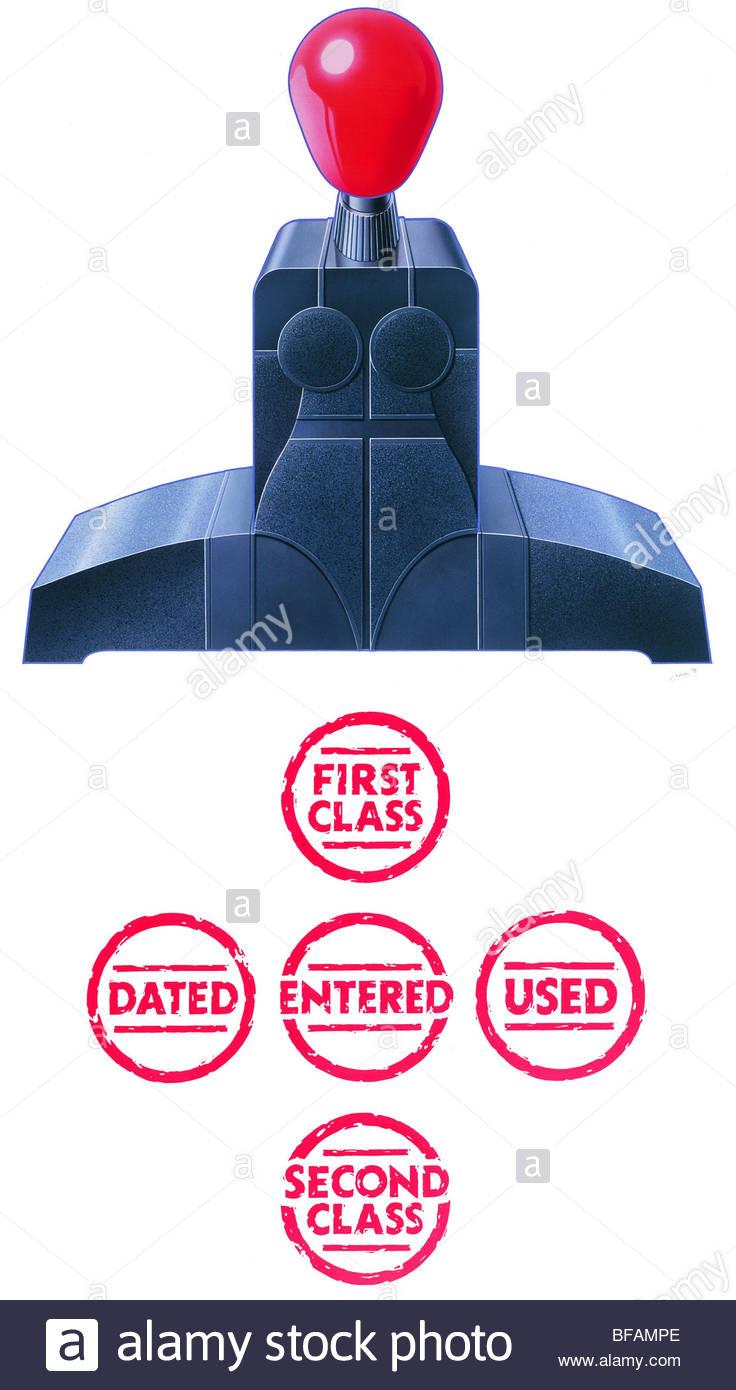 Stamped (illustration by Julian Murphy) - Abgestempelt (Illustration von Julian Murphy) Stock Photo