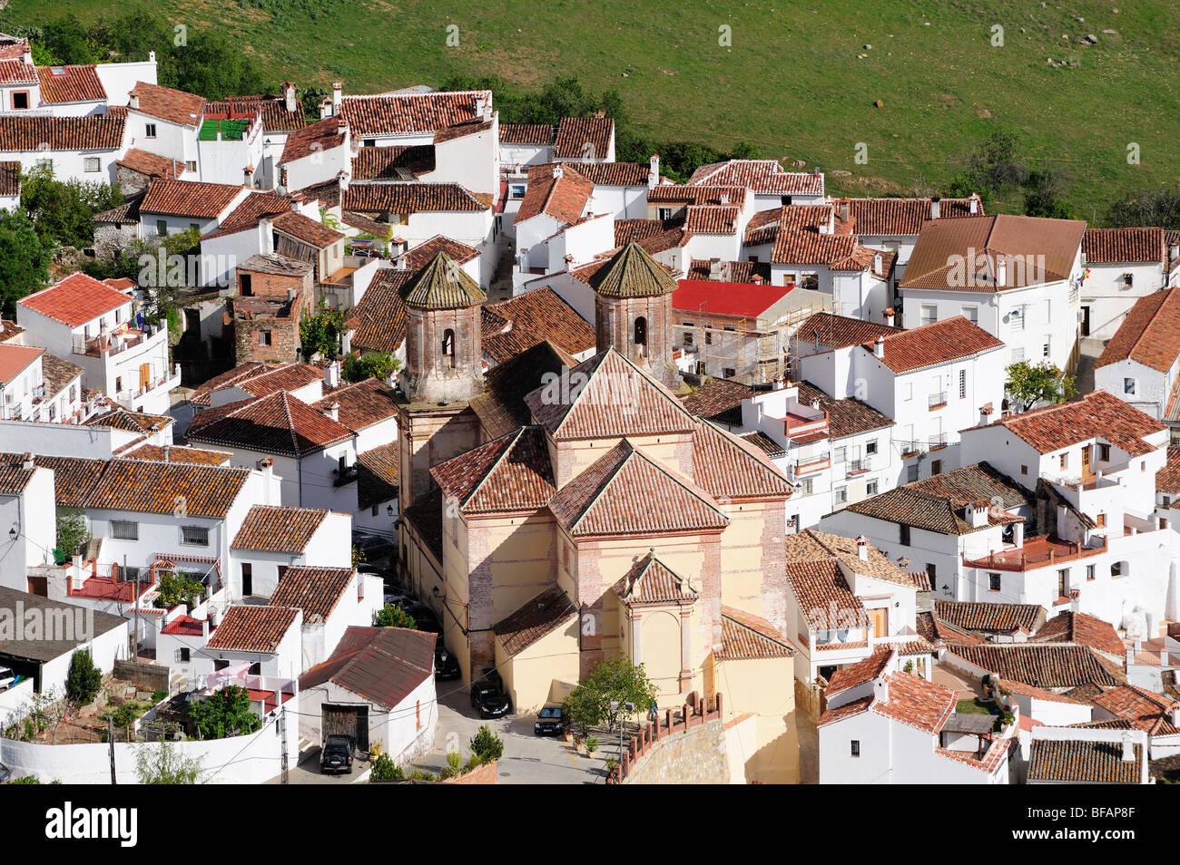 Alpandeire Ronda serrania de Ronda village white village Pueblo Blanco Andalucia Spain - Stock Image