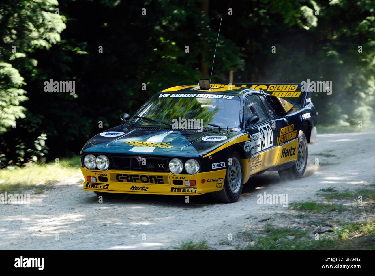 Lancia Rallye 037 EVO 2. Driven By Robert Whitehouse on the rally stage at Goodwood Festival Of Speed 2009 - Stock Image