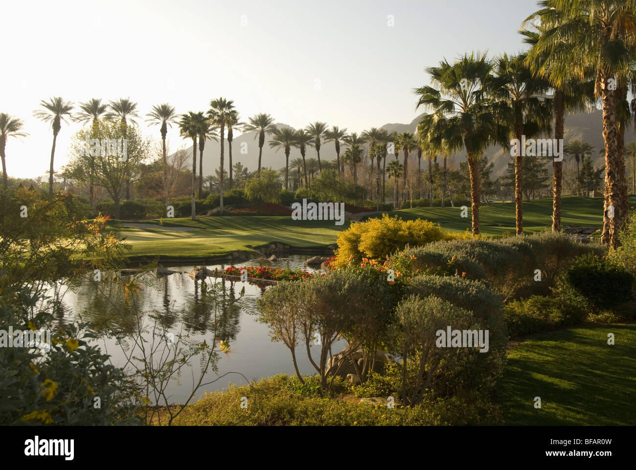 Golf course Indian Wells Palm Springs Coachella valley - Stock Image