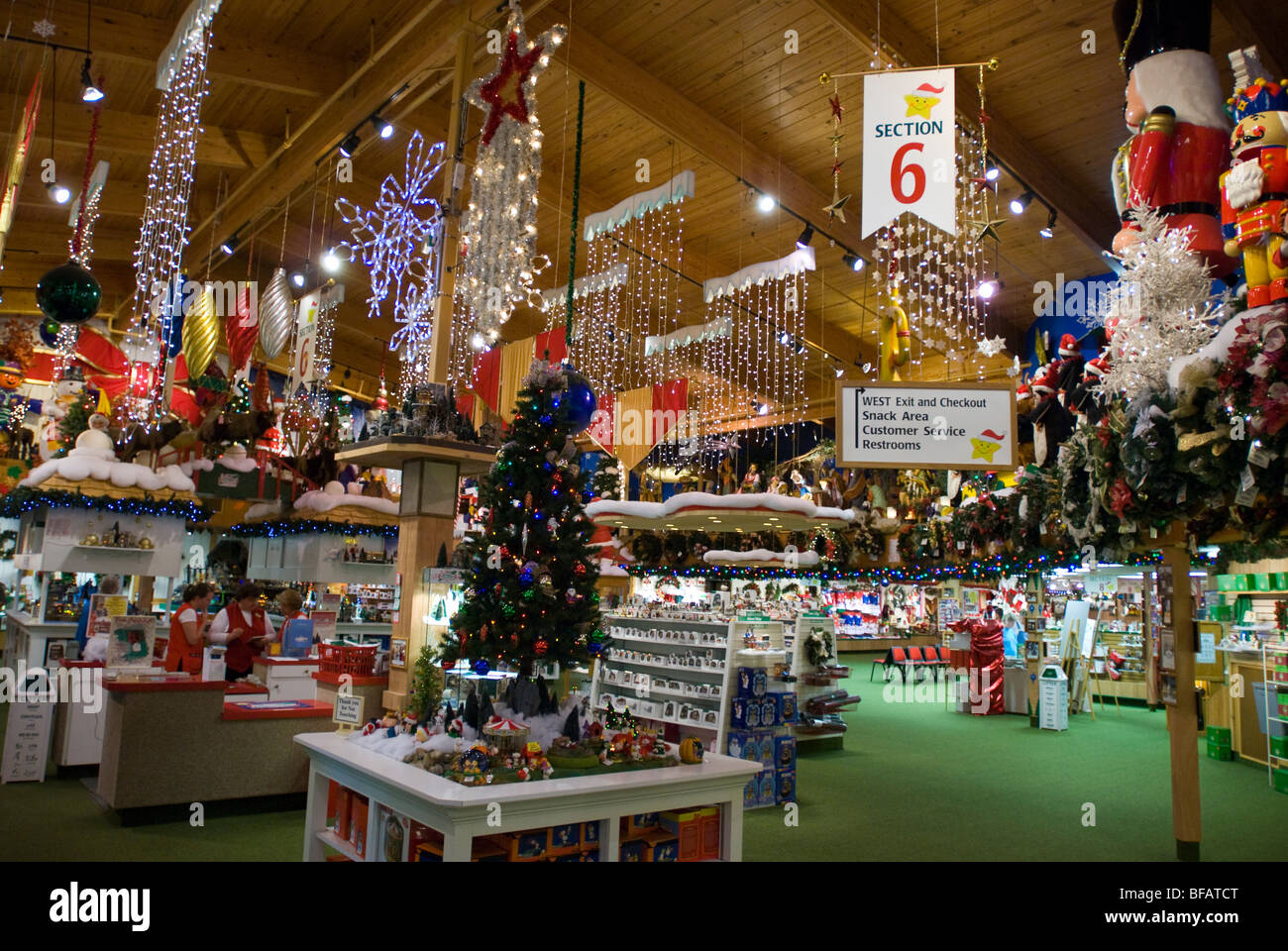 bronners christmas wonderland frankenmuth michigan united states of america stock image
