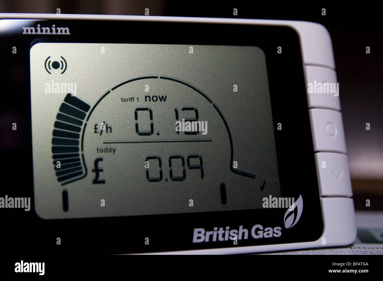A British Gas Smart Meter made by Minim - Stock Image