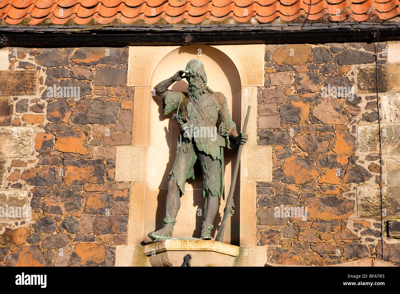 Alexander Selkirk Statue, Lower Largo, Fife, Scotland - Stock Image