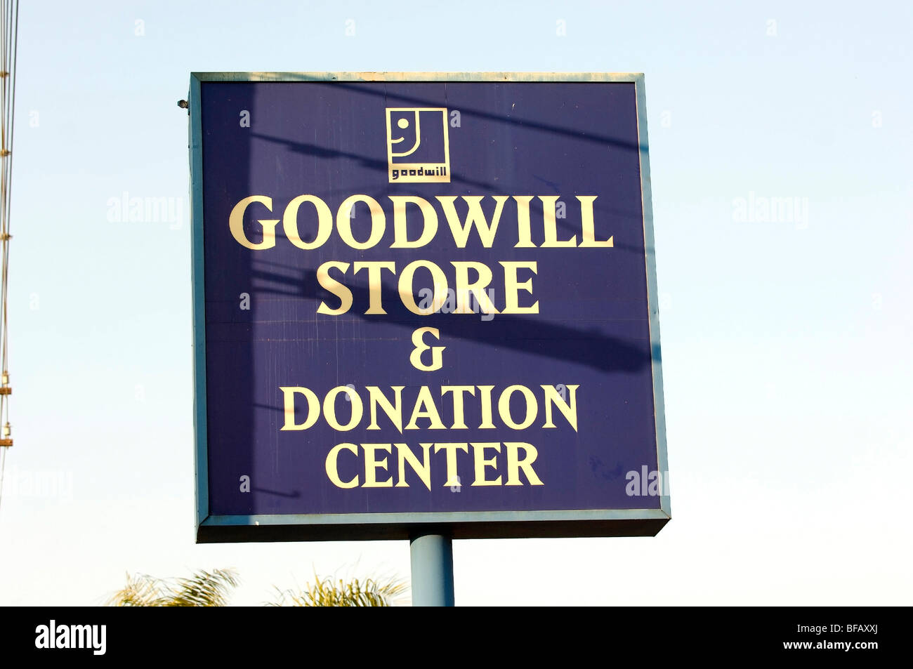 The Goodwill Store and Donation Center thrift store located in Orange CA gives tax deductible receipts for charitable - Stock Image