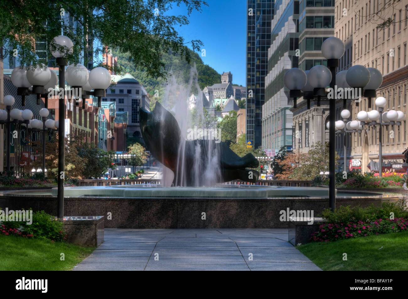 Place Ville Marie Downtown Montreal Canada Stock Photo
