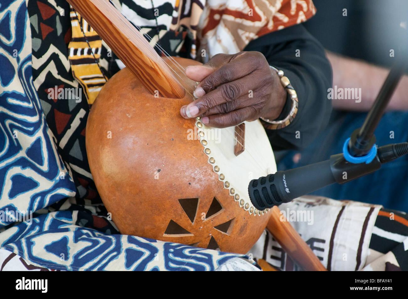 West african gourd banjo - Stock Image
