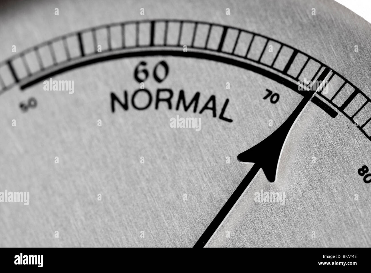 comfort zone - vintage humidity meter( hygrometer) close-up - Stock Image