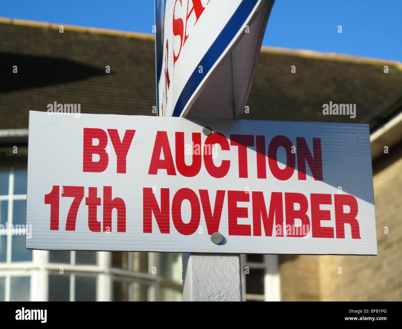 A property for sale by auction in the U.K. - Stock Image